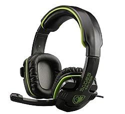 Sades Stereo Headset Headband SA-708 Game Earphone Bass Headphones with Microphone (Green)
