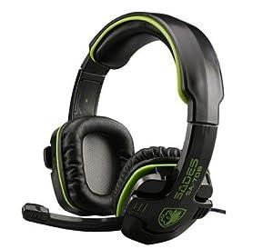 SADES SA-708 Stereo Headset Gaming Headset with Microphone (Green)