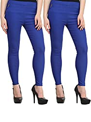 Atharv Collections Women's Jeggings (2BLUE_32_Blue_32)