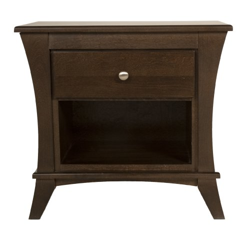 Kidz Decoeur Long Beach 1 Drawer Night Table, Chocolate