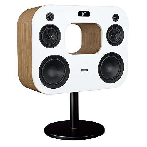 "Fluance Fi70 Three-Way Wireless High Fidelity Music System with Powerful Amplifier & Dual 8"" Subwoofers (Lucky Bamboo)"