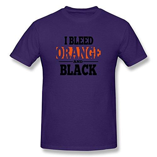 Bleed Orange Black Men'S Gifts Tee Shirts