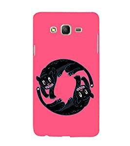 EPICCASE Yin-Yang Cats Mobile Back Case Cover For Samsung Galaxy E5 (Designer Case)