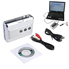 buy Agptek® Portable Lp Vinyl Tape To Pc Dual Hybrid Usb Cassette-To-Mp3 Converter Capture With Audio Output , Work For All Kinds Of Tapes
