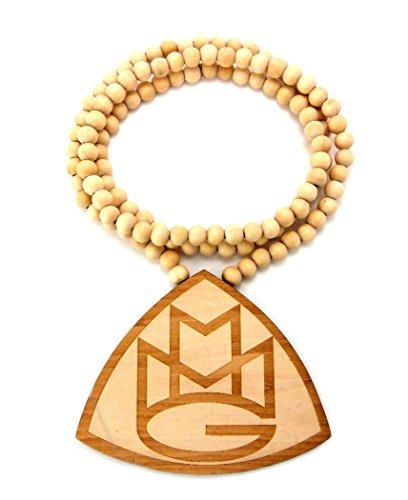Maybach Musica MMG triangolare in legno ciondolo W/Catena 91,4cm, Legno, Naturale wx83nl