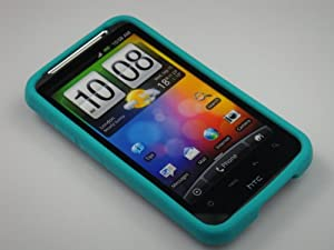 TURQUOISE Soft Silicone Skin Cover Case for HTC Inspire 4G/Desire HD [In Twisted Tech Retail Packaging]