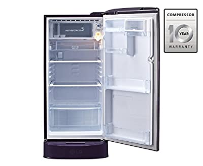 LG GL-D221APAN.DPAZEBN Direct-cool Single-door Refrigerator (215 Ltrs, 5 Star Rating, Purple Aster)
