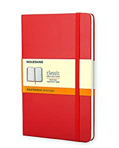 Moleskine Carnet ligné Format de poche Couverture rigide rouge 9 x 14 cm