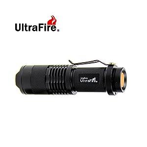 Mini Cree Led Flashlight 3 Modes Torch Adjustable Focus Zoom Light Lamp