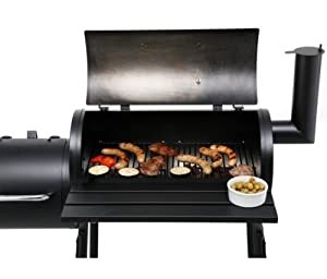 Charcoal Barbecue Smoker - BBQ Smoker Grill including BBQ Chips