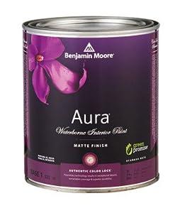 Benjamin moore aura waterborne interior latex paint matte base 1 1 qt low voc for Benjamin moore aura interior matte 522