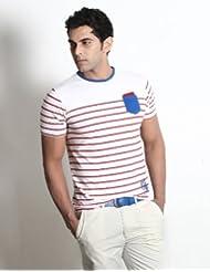 Basics Men's Crew Neck Cotton T-Shirt White (8903580994177)