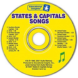 States & Capitals Songs-CD (Audio Memory)