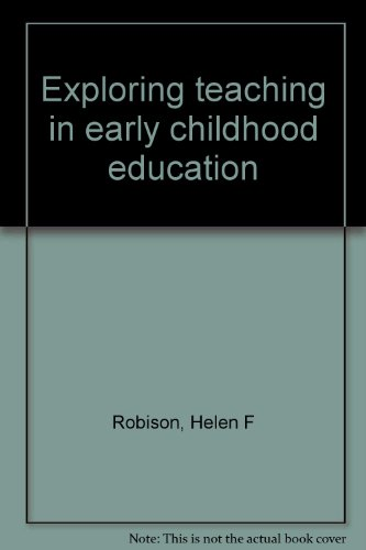 Exploring teaching in early childhood education