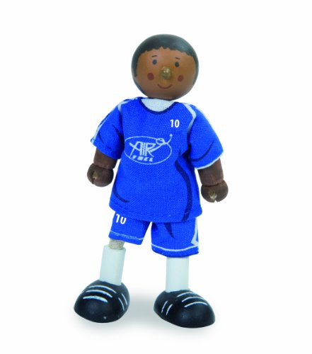 Budkins Soccer Player Footballer #10 Toy Figure, Blue - 1