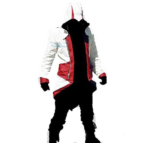 Angelaicos Unisex Color Block Match Windbreaker Coats Jackets Outwear Adult Kids (Kids L, White Red) (Uniform Advantage Jacket compare prices)