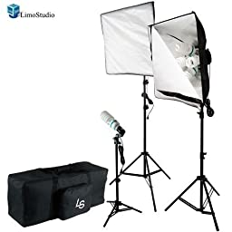 LimoStudio Photo Video Studio 1800W Continuous Softbox Lighting Light Kit, AGG1276