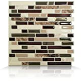 Mosaik High-Gloss Mosaic in Brown and Beige II (Set of 6)