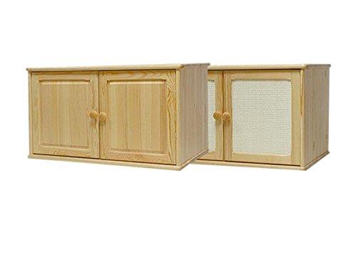 Steiner Shopping Möbel Hängeschrank Kiefer Vollholz massiv natur 022 - Abmessung 50 x 80 x 60 cm (H x B x T)