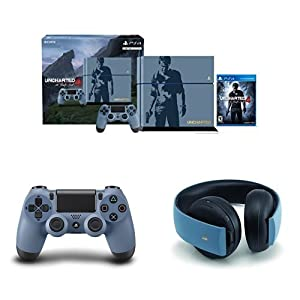 PlayStation 4 500GB Console - Uncharted 4 Limited Edition Bundle with DualShock 4 Controller and Limited Edition Gold Wireless Headset