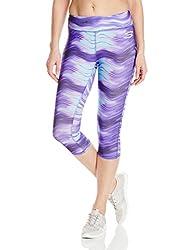 Skechers Active Women's Crop Legging, Deep Blue Waves, Medium