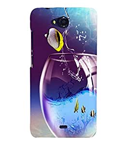 printtech Fish Glass Water Back Case Cover for Micromax Bolt Q335