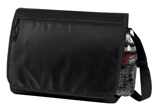 Padded Laptop Messenger Bag with Organizer (Black) by BAGS FOR LESSTM image