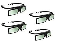 4 Pairs 3D Active Glasses for SONY 4K Ultra HD TV XBR-55X850C XBR-65X850C XBR-75X850C by TV by oem