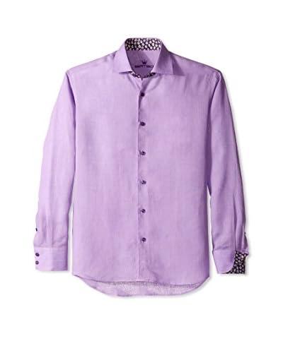 Bertigo Men's Shira Solid Linen Long Sleeve