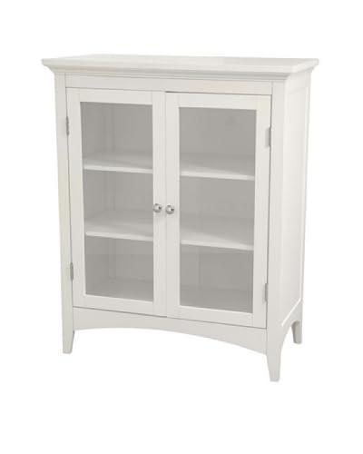 Elegant Home Fashions Madison Avenue Double Floor Cabinet, White