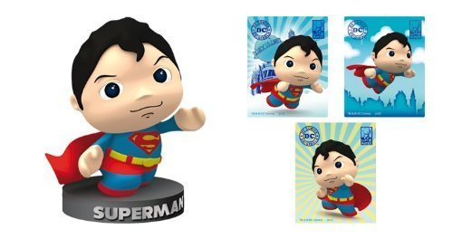 DC Comics Little Mates Superman Figurine And Puff Sticker