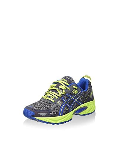 Asics Zapatillas de Running Gel-Venture 5 Gs Antracita / Amarillo / Azul