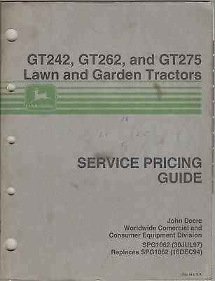 1997 John Deere Lawn & Garden Tractors Service Pricing