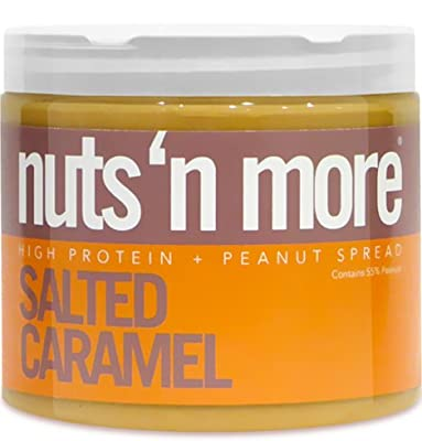 Nuts N More Salted Caramel High Protein Peanut Butter 16 Ounce from Nuts 'N More LLC