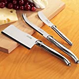 Jean Dubost Laguiole 3-Piece Cheese Knife Set -Stainless Steel