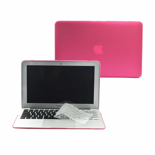 >>  TopCase 2 in 1 Rubberized Hard Case Cover And Transparent TPU Keyboard Cover for Macbook Air 11