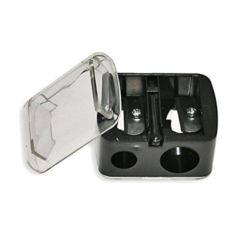 Taille-crayon à double lame avec couvercle pour sourcils lèvres yeux eye-liner Accessoires de Maquillage - Paquet de: 1 pièces Material: Plastique