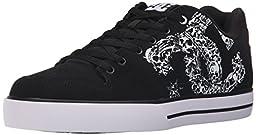 DC Men\'s Pure SE Skate Shoe, Black/Black/White, 11 M US