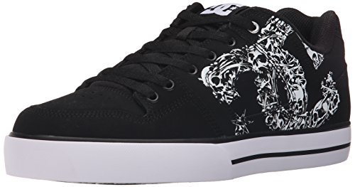 DC Men's Pure SE Skate Shoe, Black/Black/White, 12 M US