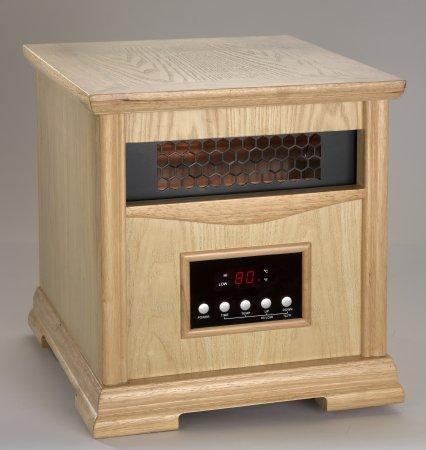 -1500-400 LT OAK Dynamic Infrared 4 Quartz Element Heater -Light Oak