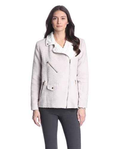 W118 by Walter Baker Women's Trinity Colorblocked Coat  [Black/Grey/Ivory]