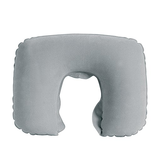 Inflatable Travel Neck Pillow - Available in Grey, Navy and Red (Grey)