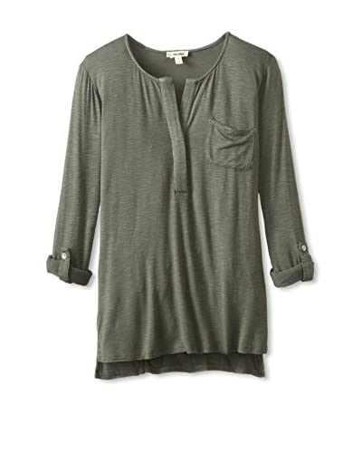 4our Dreamers Women's Top with Roll-Tab Sleeves