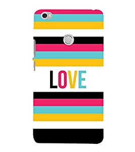 Love Colorful Lines 3D Hard Polycarbonate Designer Back Case Cover for Xiaomi Mi Max