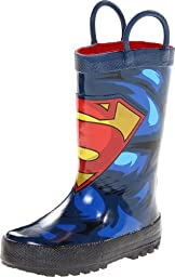 Western Chief Kids Superman Rain Boot(Toddler/Little Kid/Big Kid),Blue,7 M US Toddler