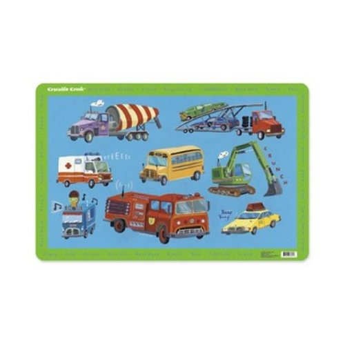 Crocodile Creek Placemat - Vehicles - 1