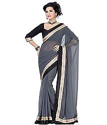 Sheesha Women's Georgette Grey Madhuri Saree