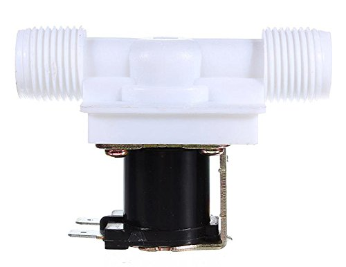 SaySure - DC 12V Electric Solenoid Valve N/C Water Inlet Flow Switch