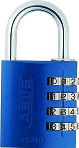 ABUS 488078 Aluminium-Zahlenschloss 145/40, blau