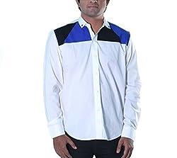 Riverbero Men's Casual Shirt (SN_DFS_213_White_40)